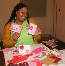 staffs making valentine cards