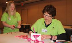 staffs making valentine cards