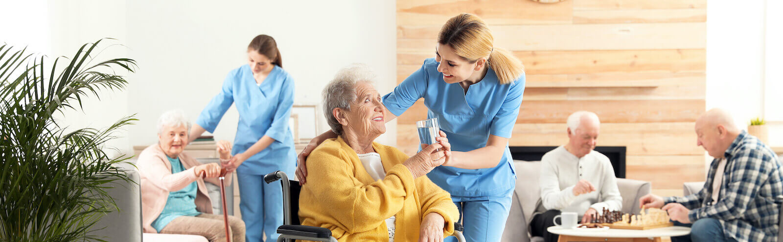caregivers taking care of their residences